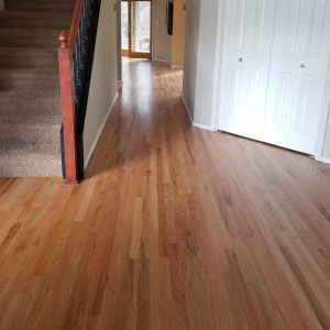 Red Oak flooring refinish