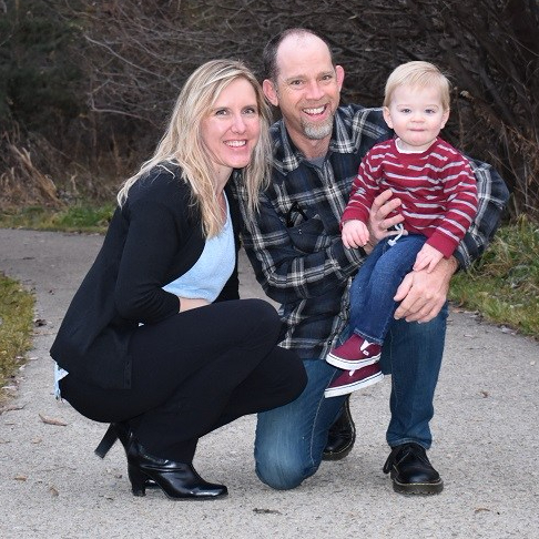 King Hardwood Floors Boise Owners, Mike and Roanne King with grandson, Kadyn
