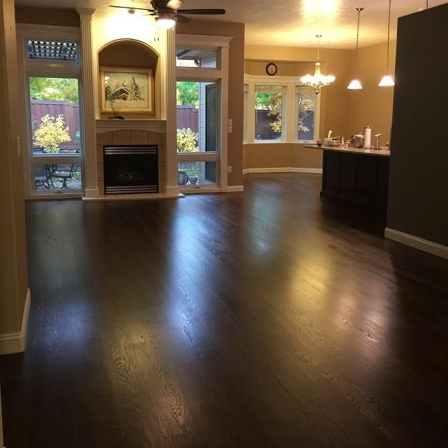 hardwood floor after refinish