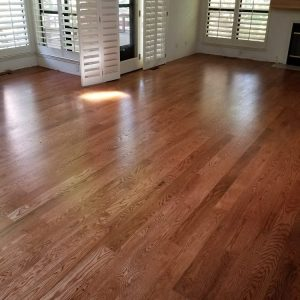 Red Oak with Gunstock Stain